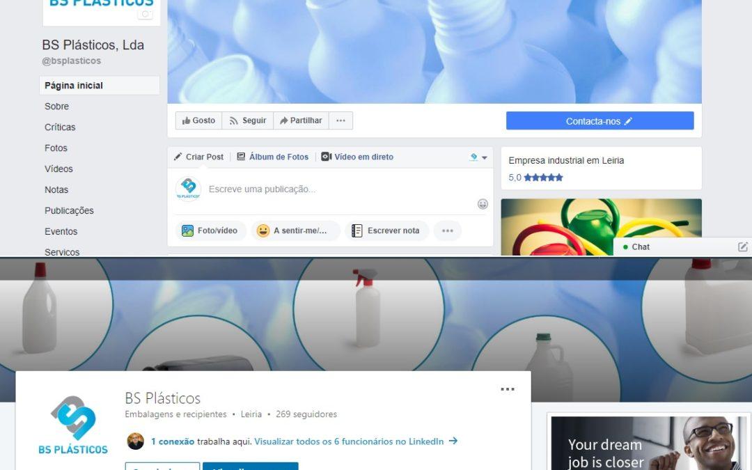BS Plásticos nas Redes Sociais: Facebook e LinkedIn