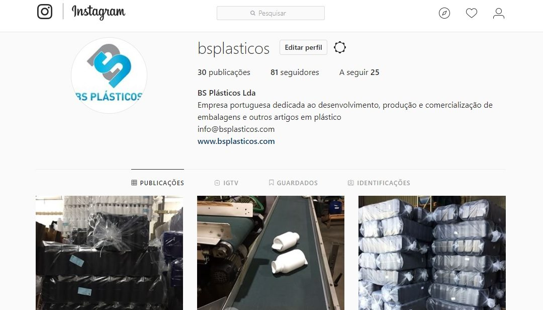 BS Plásticos no Instagram!